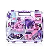 Vidatoy Doctor Nurse Medical Kit Playset With Medical Box-Purple
