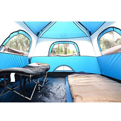 QOMOTOP-4-People-Fast-60-Seconds-Easy-Set-Up-Instant-Cabin-Tent-Camping-Tent-Provide-Top-Rainfly-Waterproof-Tent-Advanced-Venting-Design-with-Electrical-Cord-Access-Port-and-Gate-Mat