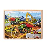 Melissa & Doug Construction Vehicles Wooden Jigsaw Puzzle With Storage Tray (48 pcs)