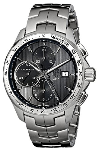518h0NSCOuL Round automatic watch featuring tachymeter topring and ribbed dial with date window and three chronograph subdials 43 mm stainless steel case with anti-reflective sapphire dial window Automatic self-wind movement with analog display