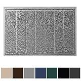 Gorilla Grip Original Durable Indoor Door Mat, 35x23, Large Size, Heavy Duty Doormats, Waterproof Doormat, Easy Clean, Low-Profile Mats for Entry, Garage, Patio, High Traffic Areas, Gray