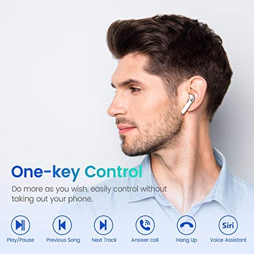 MIFA True Wireless Earbuds, TWS Bluetooth Headphones Stereo Sound Earphones, 30H Playtime Wireless Charging Case & Power Display, Sweat Proof Dual Bluetooth 5.0 Headset with Built-in Mic for Sports 17