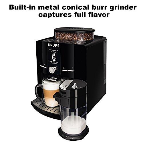 Coffee Maker With Built In Burr Grinder : KRUPS EA8250 Espresseria Super Automatic Espresso Machine Coffee Maker with Built-in Conical ...