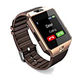 Amazingforless Bluetooth Touch Screen Smart Wrist Watch Phone with Camera - Gold