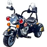 3 Wheel Chopper Trike Motorcycle for Kids, Battery Powered Ride On Toy by Lil' Rider  - Ride on Toys for Boys and Girls, Toddler and Up - Black