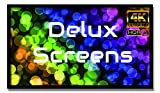 Delux Screens 120 inch 4K/8K Ultra HDR Projector Screen - Active 3D Ready - 6 Piece Fixed Frame - Home Theater Movie Projection Screen - PVC Matte White - Velvet Border (120', 16:9)