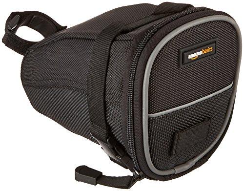 AmazonBasics Strap-On Wedge Saddle Bag for Cycling - Medium