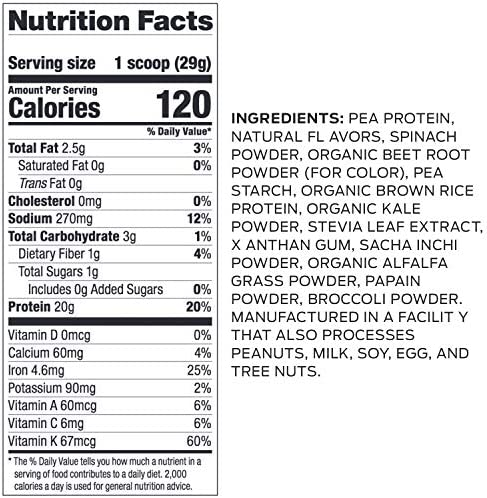 Vega Protein and Greens, Berry, Plant Based Protein Powder Plus Veggies - Vegan Protein Powder, Keto-Friendly, Vegetarian, Gluten Free, Soy Free, Dairy Free, Lactose Free (26 Servings, 1lb 10.6oz) 2