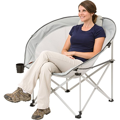 New! Ozark Trail Oversized Cozy Camping Chair includes Carry Bag with Carry Strap