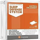 The Original Sleep Defense System - Waterproof / Bed Bug / Dust Mite Proof - PREMIUM Zippered Mattress Encasement & Hypoallergenic Protector - 60-Inch by 80-Inch, Queen - Standard 12'
