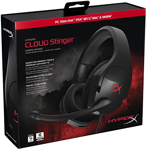 51947EbPyML - HyperX HX-HSCS-BK/EM Cloud Stinger Gaming Headset for PC/Xbox/PS4