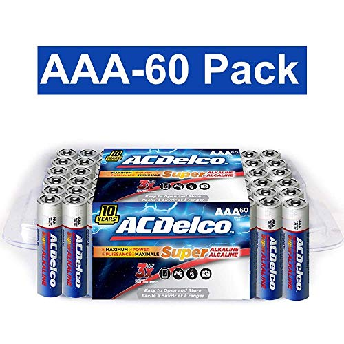 ACDelco AAA Batteries, Alkaline Battery, 60 Count