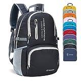 ZOMAKE Lightweight Travel Backpack, Packable Water Resistant Hiking Daypack Foldable Backpack for Women Men(Black)