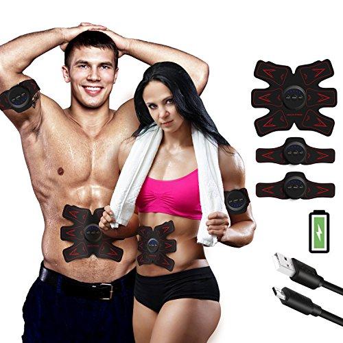 FEIERDUN Update Version 2019 Belt Rechargeable Ultimate Trainer Belt for Men & Women - Portable Abdominal Muscle Trainer Toner Toning Belt (B02)