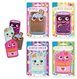 """""""Scented Erasers"""" Ice Cream Scented Cool Erasers for Girls and Boys Pack of 4 Fun Erasers for Kids - Grape, Banana Split, Strawberry & Chocolate"""