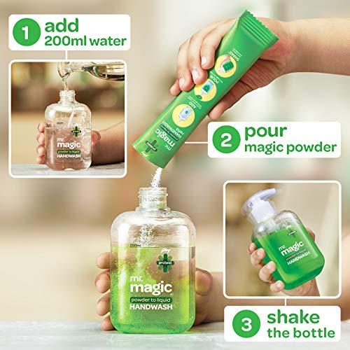 51985BcS%2BNL - Godrej Protekt Mr. Magic Powder-to-Liquid Handwash Refill, (makes 200ml)