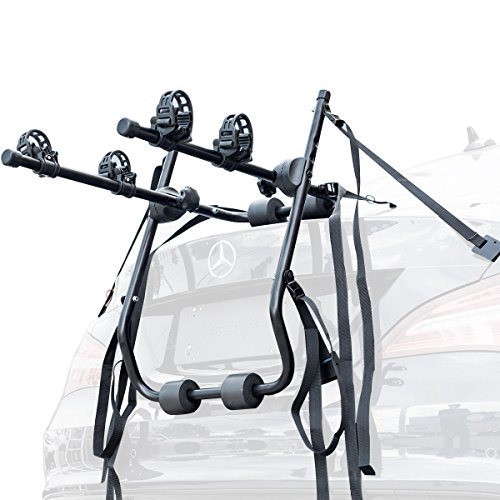 """Goplus 2-Bike Trunk Mounted Rack Carrier Car Rear Mounted Bicycle Cycle Carrier Fit for 20""""-29"""""""