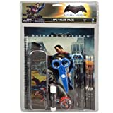Batman v/s Superman 11pc Value Pack with Plastic Pencil Case in Bag with Header