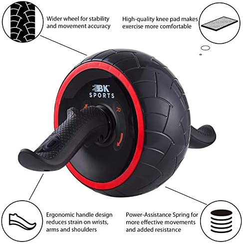 BK Sports Ab Roller Wheel for Abs Workout – Ab Roller Wheel Abdominal Exercise Equipment – Train at Home Like a Professional 2020 New 5