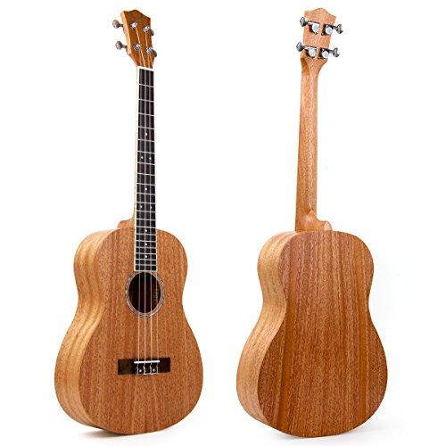 Kmise Baritone Ukulele 30 Inch Mahogany Ukelele 4 String Hawaii Guitar Uke G-C-E-A from Kmise