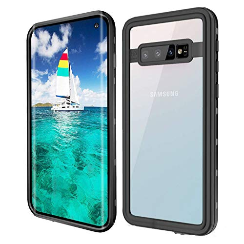 Galaxy S10 Waterproof Case Clear, iThrough Underwater, Dust Proof, Snow Proof, Shock Proof Case, Heavy Duty Protective Carrying Cover Case Built-in Screen Protector for Galaxy S10 (Clear)