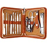 FAMILIFE F03 Manicure Set, Pedicure Kit Nail Clipper Set 13pcs Professional Men Grooming Kit Stainless Steel Portable Travel Nail Kit Women