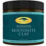 Organic Bentonite Clay Mask Powder - All Natural Mud Detox, Skin Pore Deep Cleansing, Remove Heavy Metals in Face, Skin and Hair - Acne, Psoriasis and Eczema Scar Treatment - Sodium Powder (16 oz)