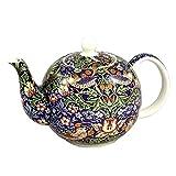 William Morris Strawberry Thief Teapot 6 Cup English Teapot
