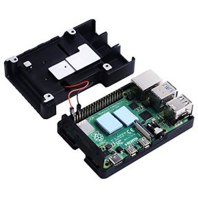GeeekPi-Raspberry-Pi-4-Armor-Case-with-Fan-Raspberry-Pi-4-Passive-Aluminum-Alloy-Case-with-Cooling-Fan-for-Raspberry-Pi-4-Model-BPi-4BPi-4-3510-Fan