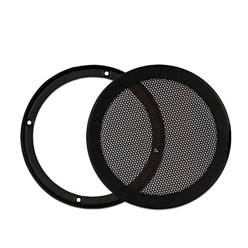 Goldwood Snap On 6.5' Subwoofer Grille Steel Mesh Speaker Black (SGM6)
