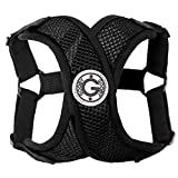 Gooby - Comfort X Step-in Harness, Choke Free Small Dog Harness with Micro Suede Trimming and Patented X Frame, Black, X-Large