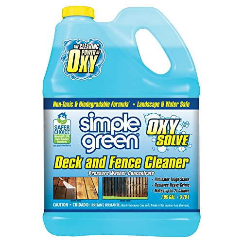 SIMPLE GREEN Oxy Solve Deck and Fence Pressure Washer Concentrate 1 Gal.