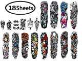 JusstMix Full arm temporary tattoo sticker fake tattoos tattoo sleeves for men and women 18 sheets