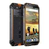 Ulefone Armor 3 Rugged Smartphone Unlocked, IP68 Waterproof Cell phone, Android 8.1 10300mAh Big Battery 4GB+64GB, Dual Sim 4G Global Version, 5.7' FHD+, Compass, GPS+Glonass, NFC, Shockproof (Orange)