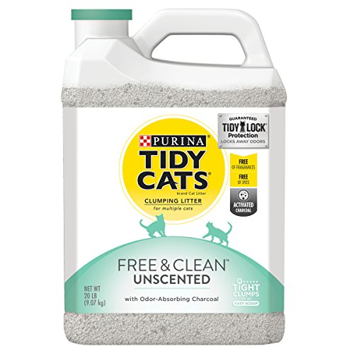 Purina Tidy Cats Clumping Cat Litter; Free & Clean Unscented Multi Cat Litter - (2) 20 lb. Jugs