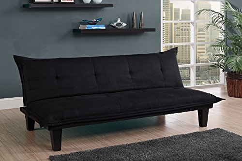 Stupendous Dhp Lodge Convertible Futon Couch Bed With Microfiber Upholstery And Wood Legs Black Dustin A Purtan Ibusinesslaw Wood Chair Design Ideas Ibusinesslaworg