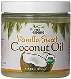 Primal Essence Organic Coconut Oil, Vanilla Sweet, 8 Ounce