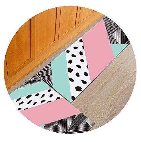 Nordic Modern Geometric Tapies Mat Carpet Kitchen Rug Long Floor Hallway Door Mats Entrance Outdoor Water Absorb Doormat,04,50x120cm