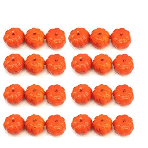 Kbraveo 30pcs Lifelike and Realistic Artificial Fall Harvest Mini Pumpkins for Decorate and Party
