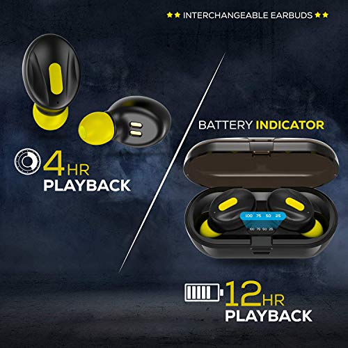 519ObSLyI1L WeCool Moonwalk Mini Earbuds with Magnetic Charging Case IPX5 Wi-fi Earphones with Digital Battery Indicator for Crisp Sound Bluetooth Earphones for Safe Sports activities Match