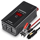 POTEK 500W Power Inverter DC 12 V to 110V AC Car Converter with Digital Display Dual AC Outlets and Dual USB Charging Ports for Tablets, Laptop and Smartphones