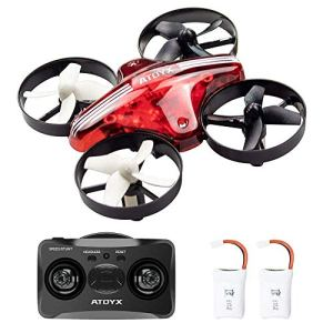 ATOYX Drones for Kids – Mini Drones for Kids RC Drone, Equipped with 2.4Ghz 4CH 6-Axis Gyro , 3D Flip, 3 Speed, LED Lights, Suitable for Boys, Girls, Teens, Adults and Beginners.Red 519P0dFgo0L