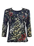 "Jess & Jane ""Christmas Joy"" Cotton Top in Black 14-1077 (2X)"