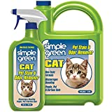 SIMPLE GREEN Cat Stain & Odor Remover - Enzyme Cleaner for Cat Urine, Feces, Blood, Vomit (32 Ounce Sprayer and 1 Gallon Refill) (1 Gal + 32 Oz)