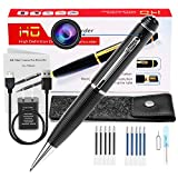 Hidden Spy Camera Pen, Portable Mini Pen Cameras 1080p HD Camcorder Surveillance DVR Camera Video and Photo Quality Clear with Protected Bag and 10 Refills