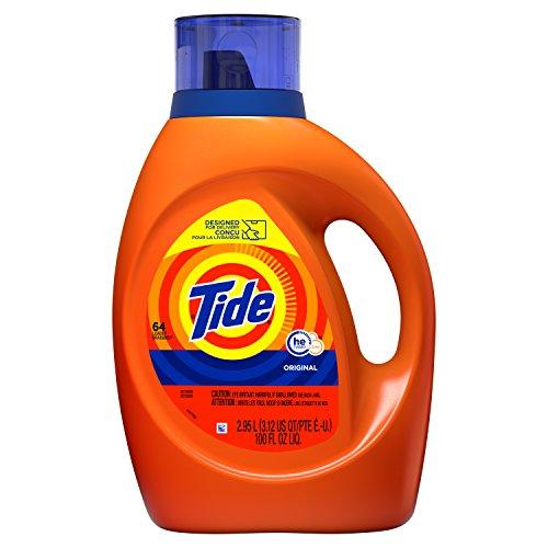 Tide Laundry Detergent Liquid, Original Scent, HE Turbo Clean, 100 oz, 64 Loads