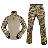 SINAIRSOFT Tactical Combat Pants Shirt US Army Military Paintball BDU Gen3 Uniform Rapid Assault Sleeve Slim Fit Long Sleeve Top Uniform