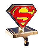 Superman Kurt Adler Logo Stocking Hanger, Silver