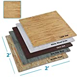 Clevr 100 Sq. Ft EVA Interlocking Foam Mats Flooring, Light Wood Oak Grain Style - (24' x 24', 25 pcs) | Includess Tile Borders | 1 Year Limited Warranty | Make Perfect Square Space for Trade Shows