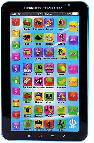 Toydirect P1000 Kids Educational Learning Tablet Toy (Blue) 113